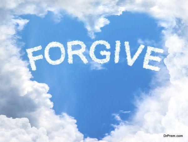 sky cloud forgive concept word inside heart shape