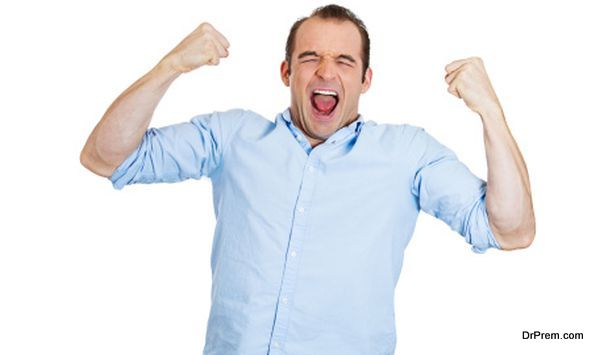Excited man