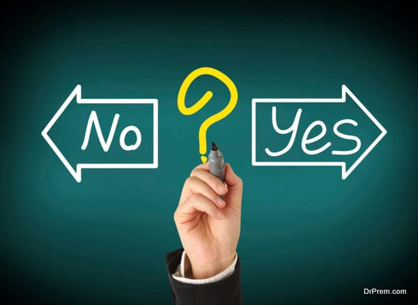 drawing with yes or no choice