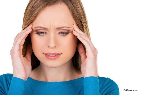 Awful headache.