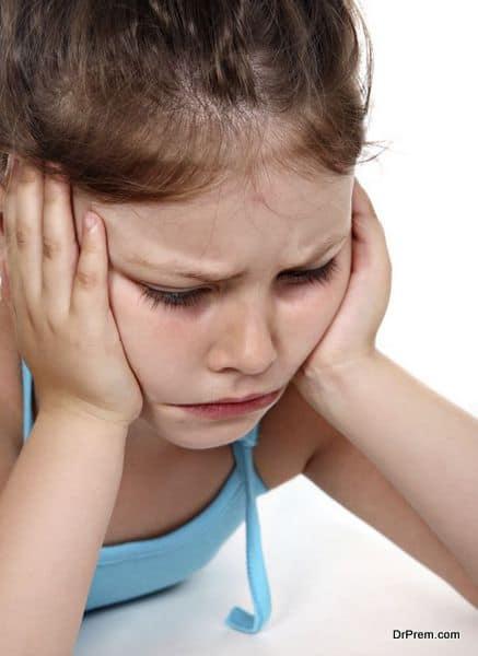 Deep mortification of little girl