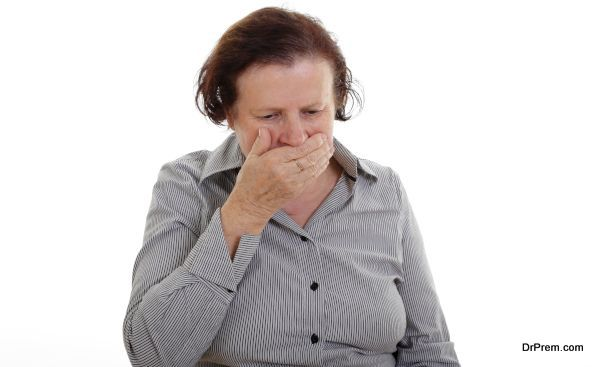 mother coughing