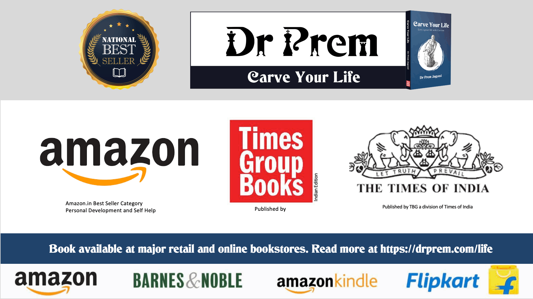 Bestseller Book - Carve Your Life | Available at Major Online and Retail Stores