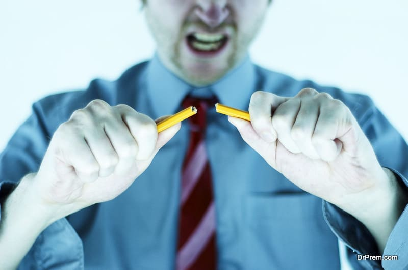 anger or frustration