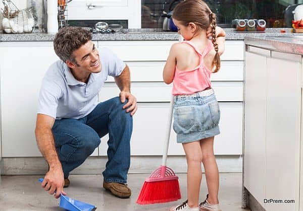 Get the child involved in household work