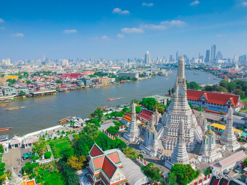 High angle view Bangkok Thailand