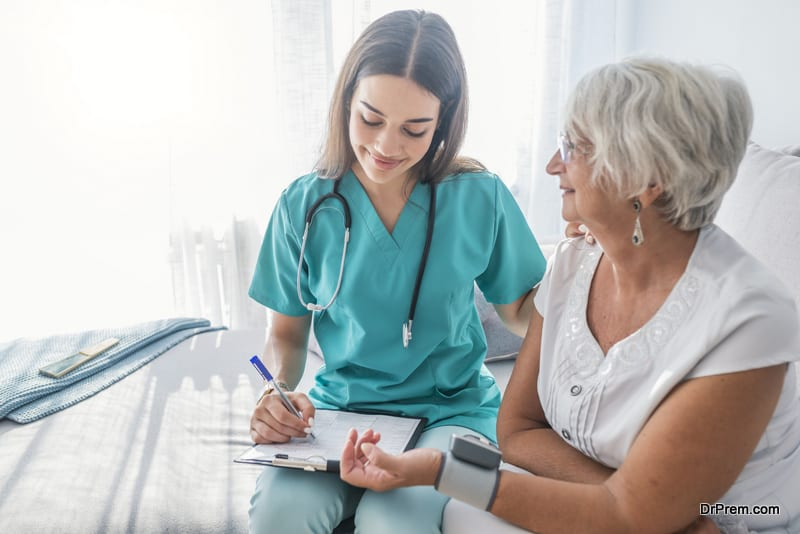 senior woman on medical tour