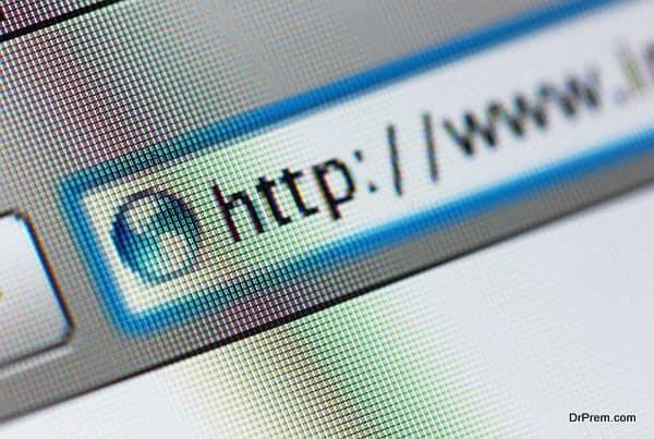 Internet address, computer screen