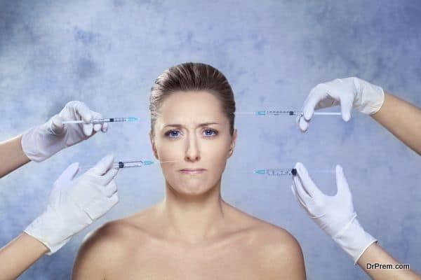 Beauty treatment with botox