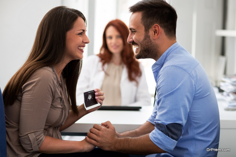couple visiting doctor for the fertility treatment