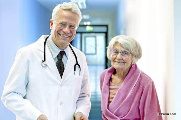 Doctor with Elderly Female.