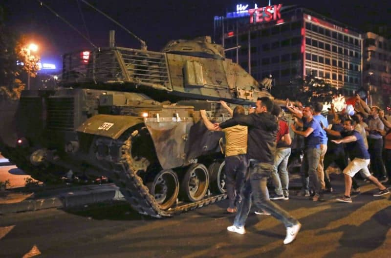 Recent military coup in Turkey