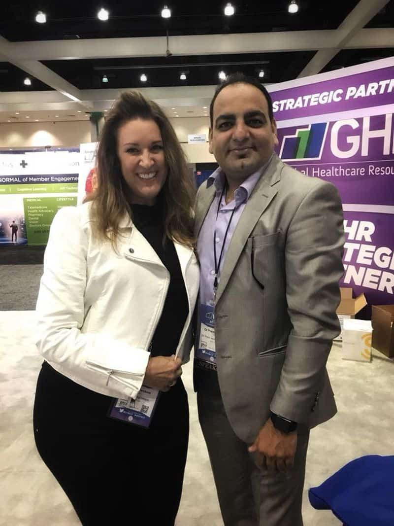 Dr Prem Jagyasi With Kelly Arnold Jenkins.