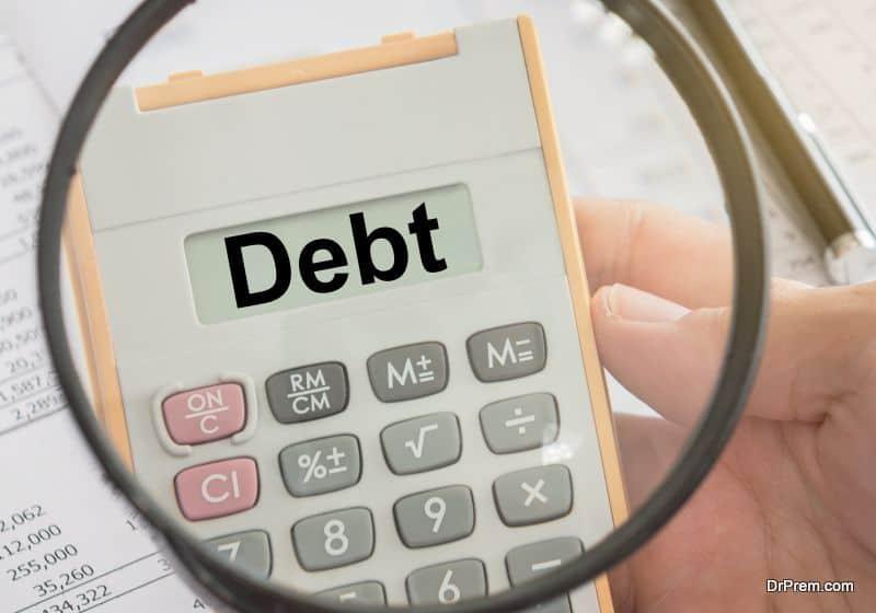 burdened with debt