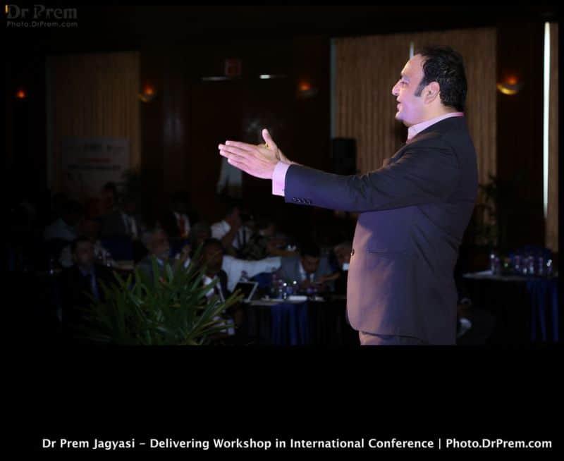 Dr Prem Jagyasi Delivering speech