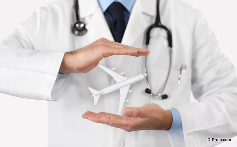 medical tourism healthcare travel insurance concept