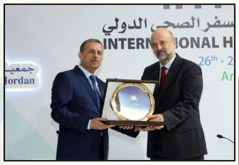 On behalf of His Majesty King Abdullah II Bin Al Hussein His Excellency Dr.Omar Al Razzaz