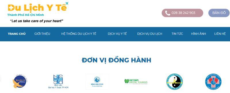 Ho Chi Minh unveils the first website dulichytetphcm.com