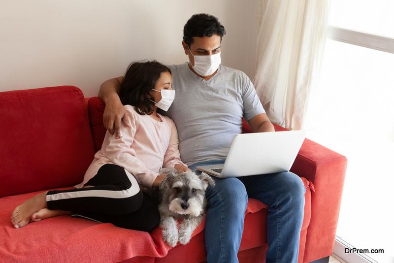 quarantined family