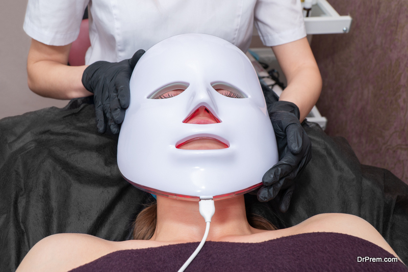 woman undergoing anti-aging therapy treatment
