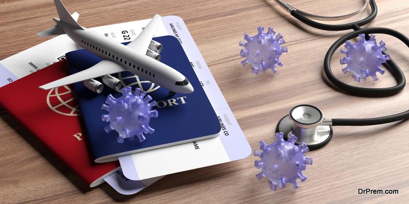 Covid-19 pandemic spread through extensive air travel