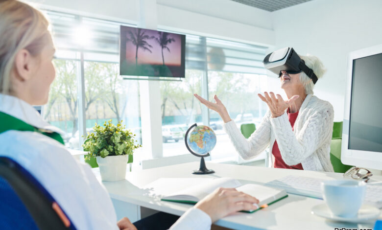 VR glasses for visualization of wellness tour