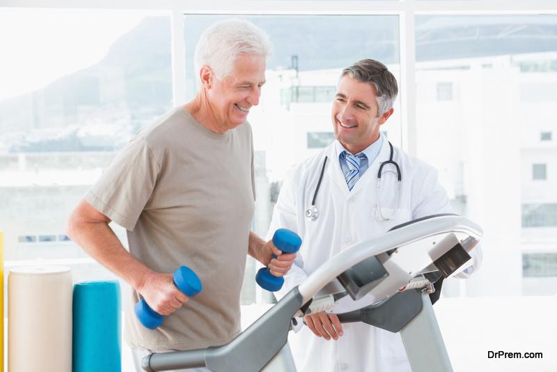 senior man joined medical wellness program