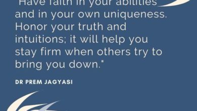 Have faith in your abilities and in your own uniqueness- Dr Prem Jagyasi Quote