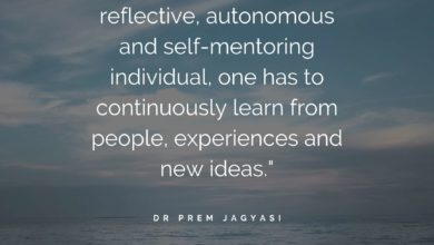 In order to become reflective, autonomous-Dr Prem Jagyasi Quote