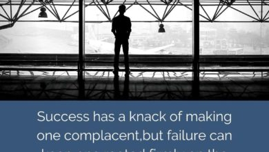 Success has a knack of making one complacent but failure- Dr Prem Jagyasi Quotes (1)