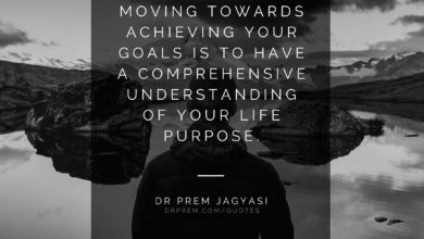 The first step to moving towards achieving- Dr Prem Jagyasi Quotes