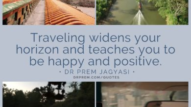 Traveling widens your horizon- Dr Prem Jagyasi Quotes