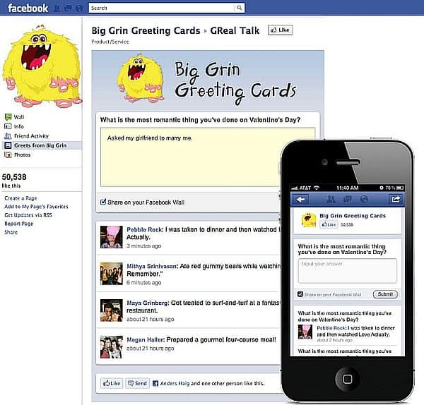 Facebook app on our mobile devices