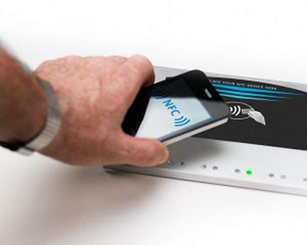 NFC technology on an Apple device