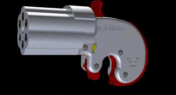 Reprringer pepperbox .22 revolver