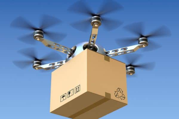 E-commerce businesses waiting for delivery via drone 2