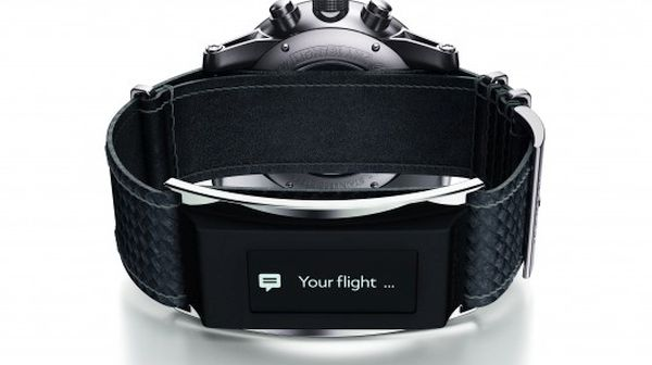 Montblanc smartwatch with e-Strap