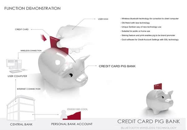 Credit Card Piggy Bank invention