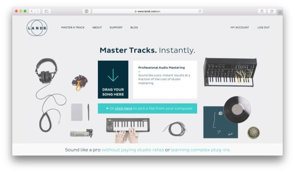 Landr audio mastering sound (1)