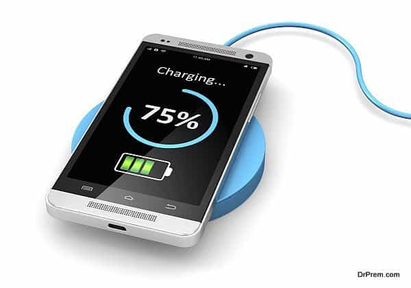 Wireless charging of smartphone