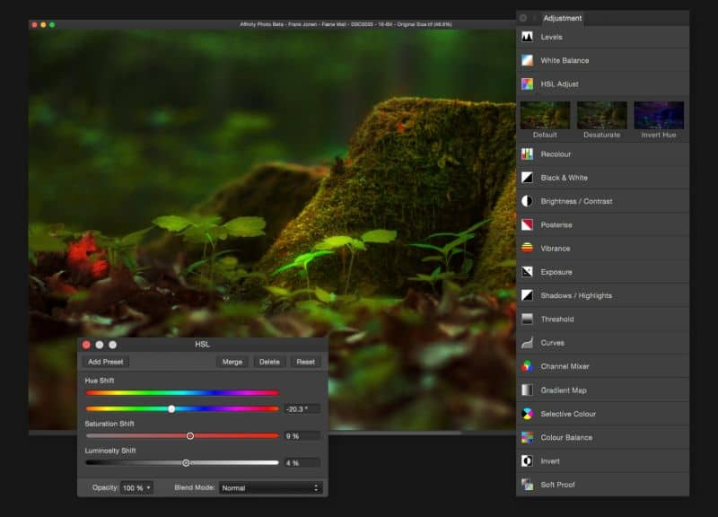 Affinity Photo for iPad,