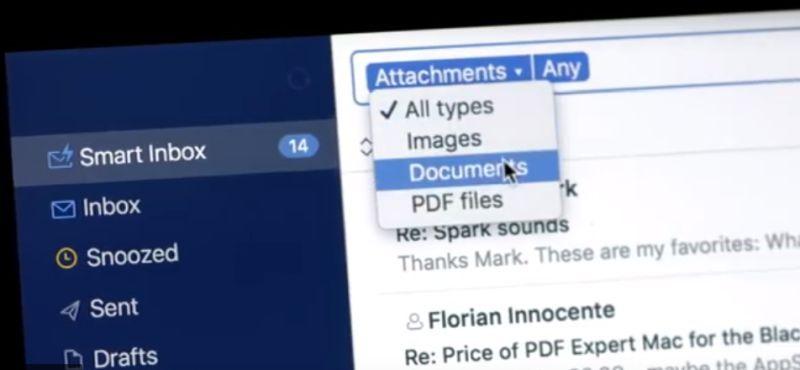 Spark mail app