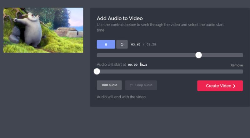 Add audio to a video