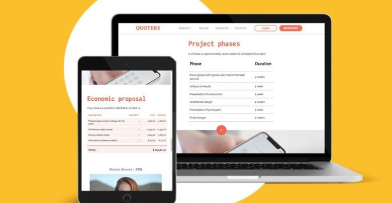 cloud based proposal creation with Quoters.io