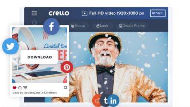 create easy design with Crello software