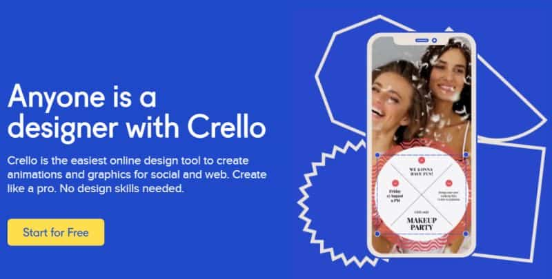 crello User friendly design tool