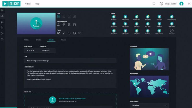 Alugha's cloud hosting