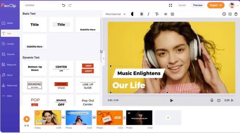 make a video using FlexClip