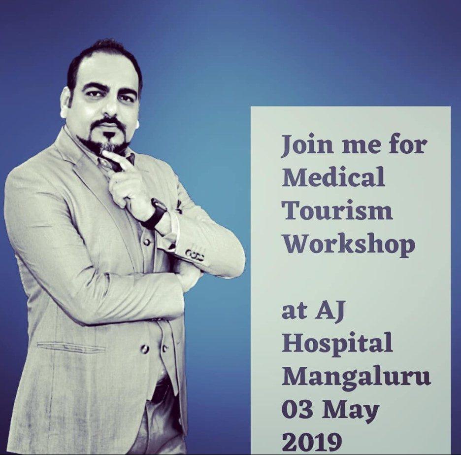 Medical Tourism Workshop At AJ Hospital Mangalore - Dr Prem Jagyasi