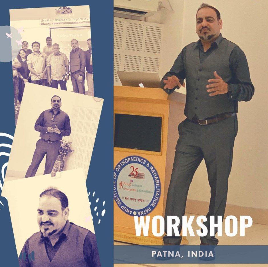 Medical Tourism Workshop with Anup Institute Of Orthopaedics & Rehab In Patna - Dr Prem Jagyasi